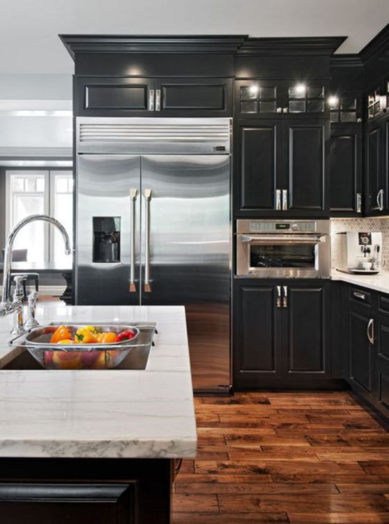 10+ Kitchens with Black Appliances in Trending Design ...