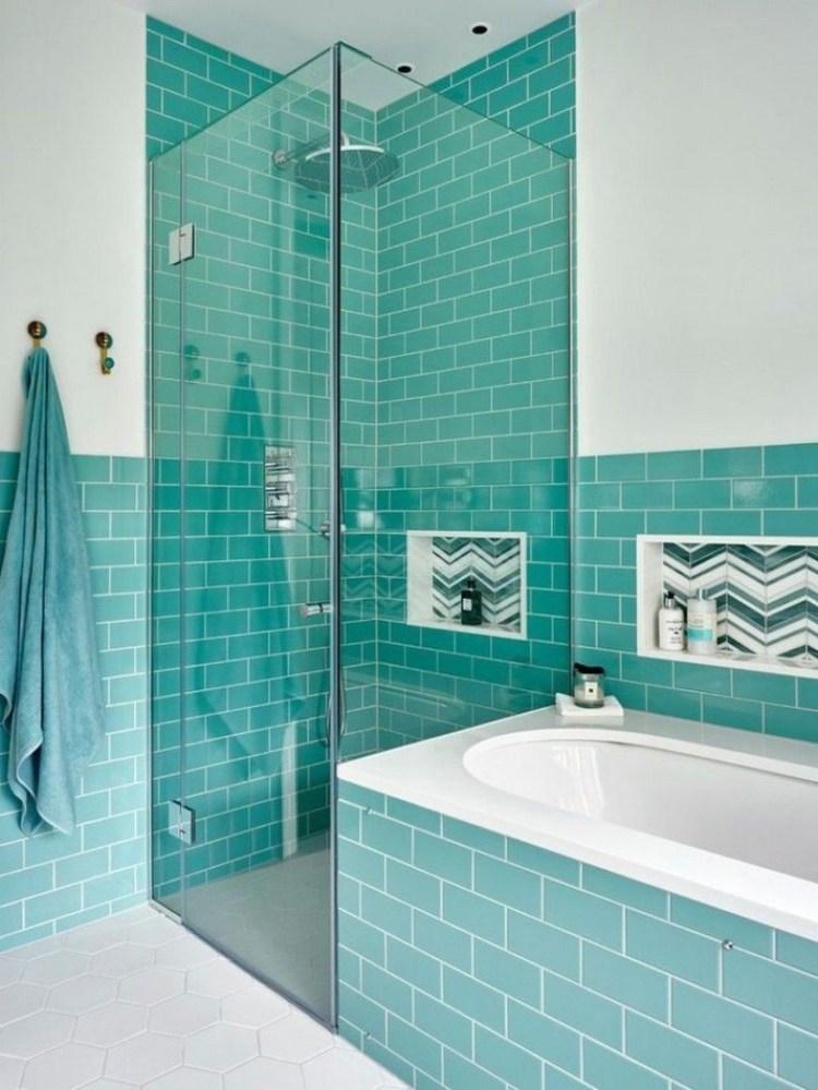Basement Bathroom Ideas - Chic Turquoise Basement Bathroom