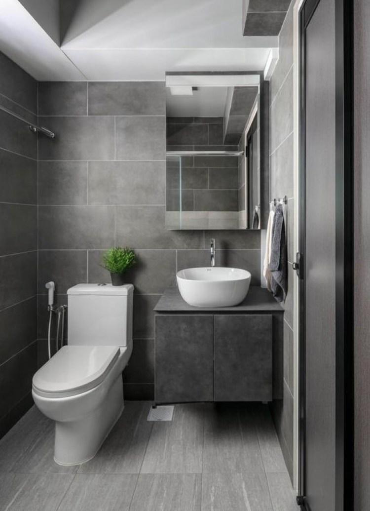 Basement Bathroom Ideas - Bright and Grey-ish Basement Bathroom
