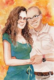"""Ink, 5x7"""", Portrait Commission"""