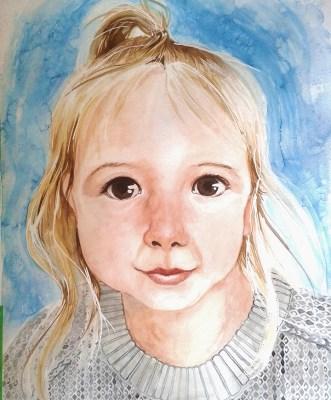"""Watercolour, 20x24"""" Portrait Commission"""
