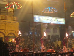 Fire offered to Lord Shiva