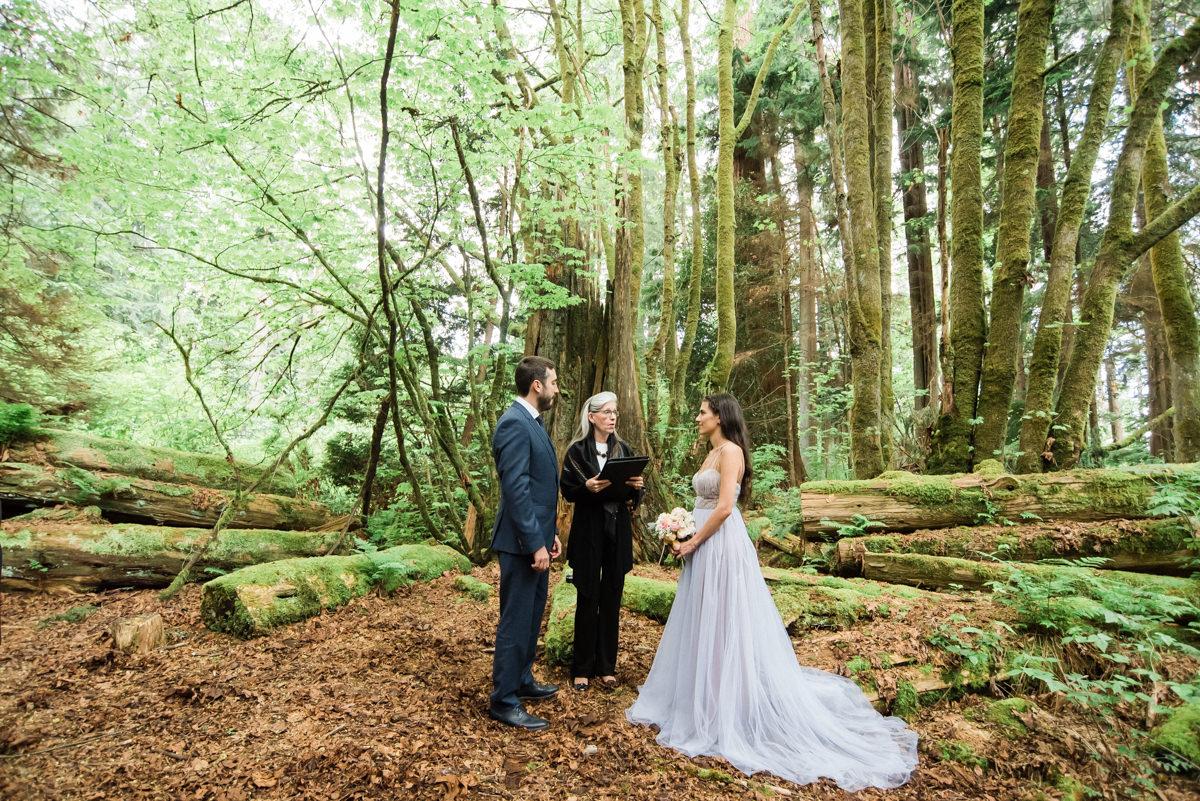 Intimate Stanley Park forest wedding