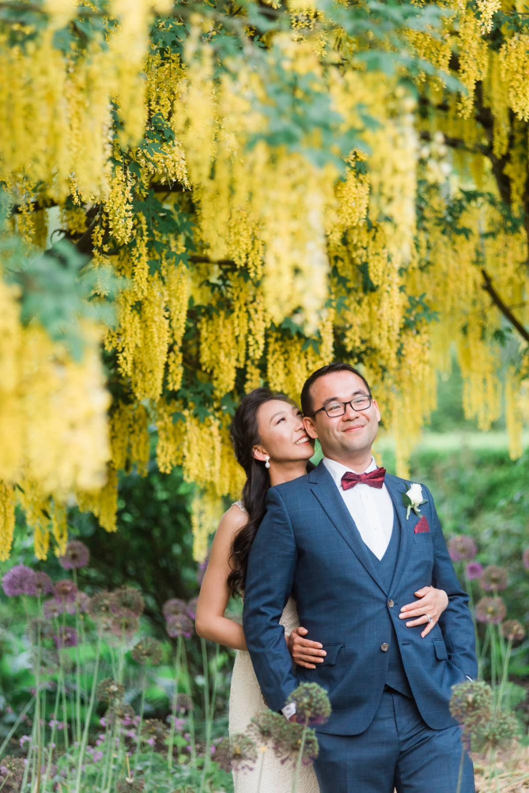 Golden Chain wedding photos in vancouver's Vandusen