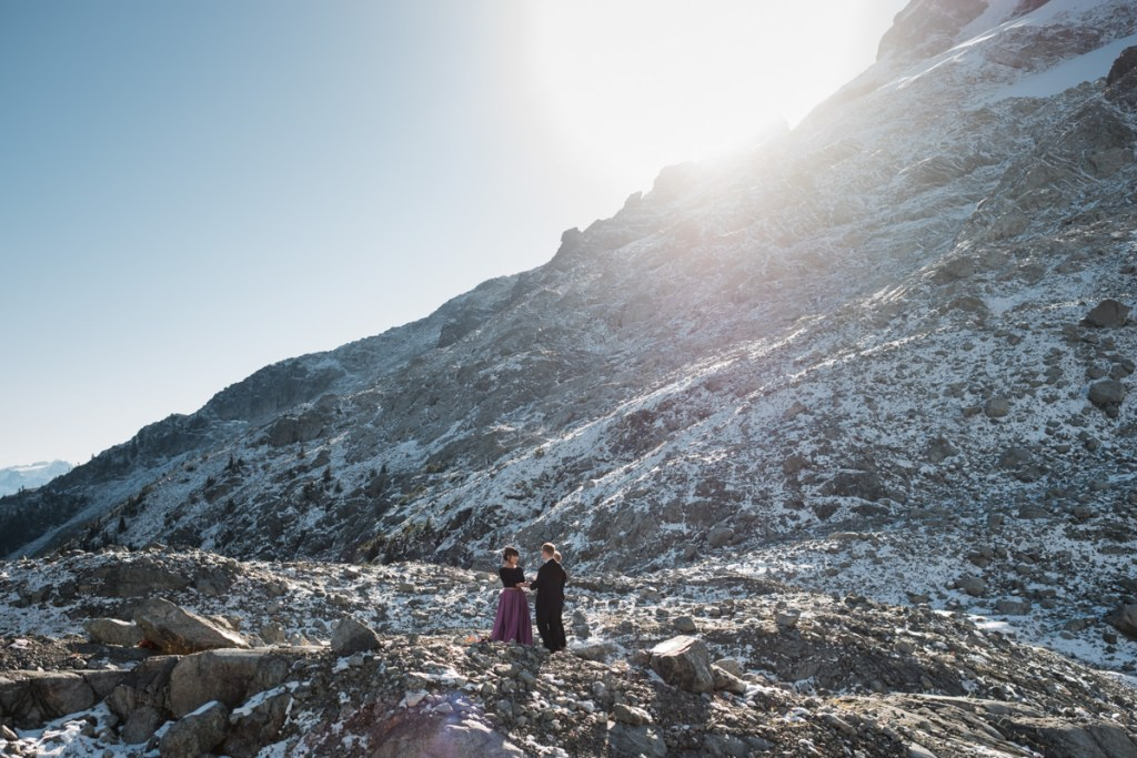 Squamish mountain top elopement