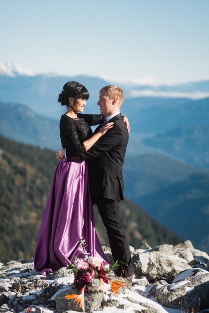 bride groom helicopter wedding