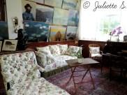 Le salon-atelier de Claude Monet
