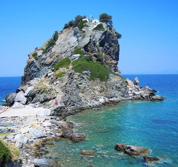 Skopelos Mamma mia Kirche  reisen made by jeller