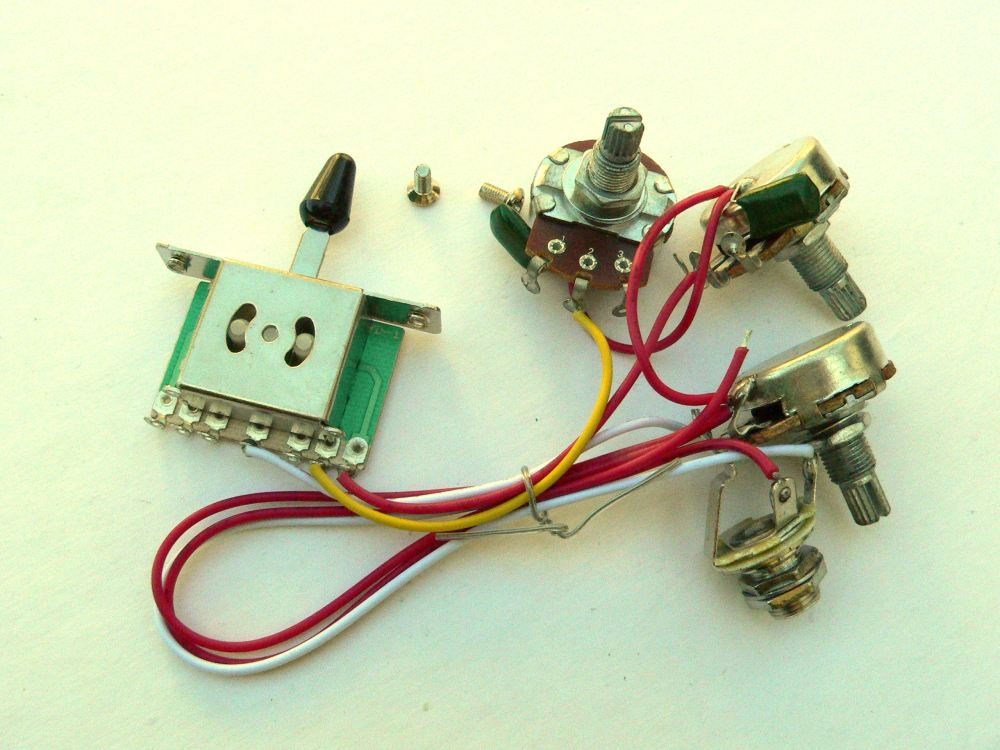 medium resolution of details about 24mm 5 way wiring harness kit for fender stratocaster guitar single coil strat