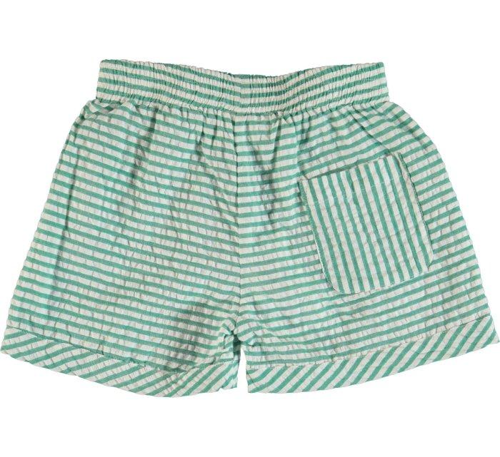 Agatha - Green Stripe-SHORTS-Molo-104-4yrs-jellyfishkids.com.cy
