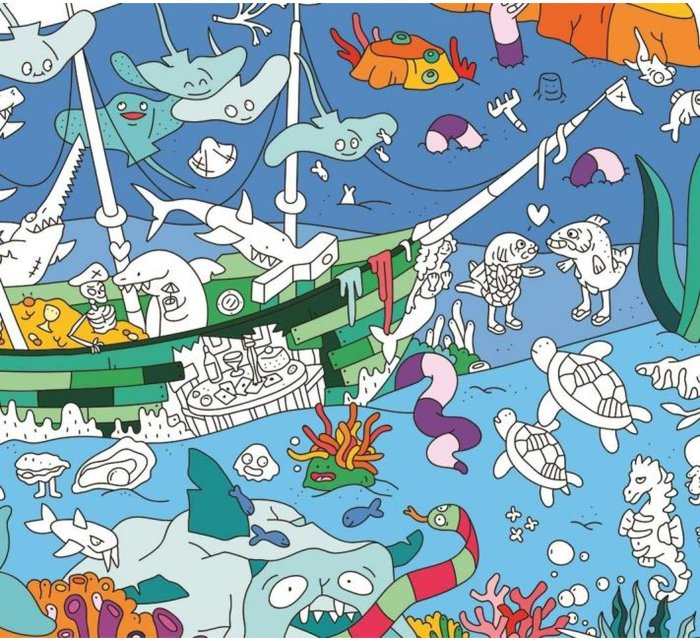 Coloring Poster - OCEAN-Coloring Poster-OMY-jellyfishkids.com.cy