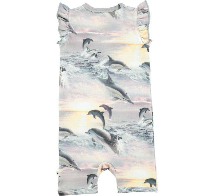 Faris Bodysuit - DolphinnSunset-Short Romper-Molo-56-0/3 mths-jellyfishkids.com.cy