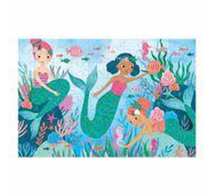 Mermaids Glitter Puzzle-Puzzle-MUDPUPPY-jellyfishkids.com.cy