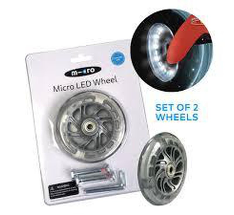 MICRO LED WHEELS SET - 2 PART - MINI & SPRITE-LED wheels-Micro Scooter-jellyfishkids.com.cy