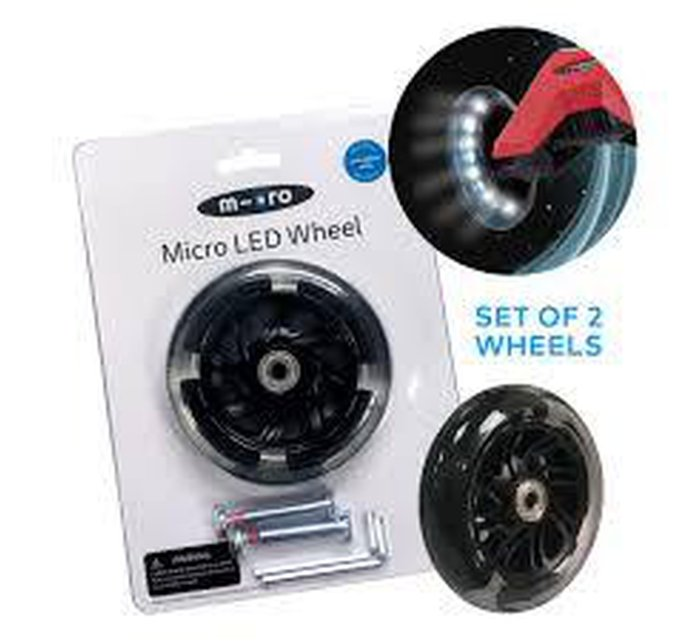 MICRO MAXI LED WHEELS SET - 2 PART - MINI & SPRITE-LED wheels-Micro Scooter-jellyfishkids.com.cy