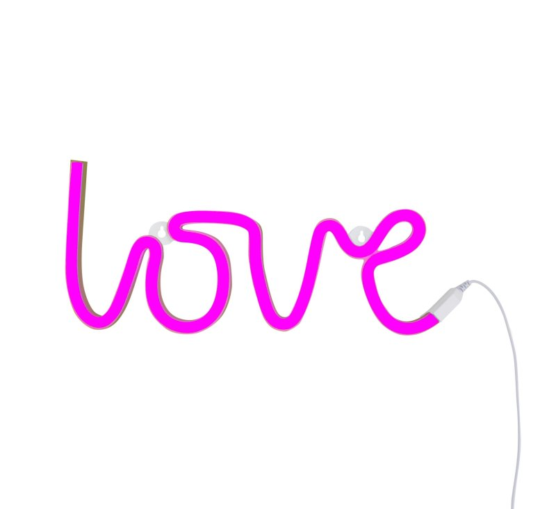 Neon Style Light - LOVE - Pink-Light-A Little Lovely Company-jellyfishkids.com.cy