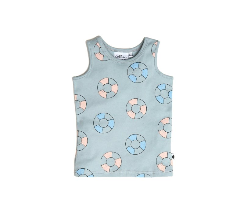 Pool Rings Tank-Tank Top-Tobias and the Bear-3-4 yrs-jellyfishkids.com.cy