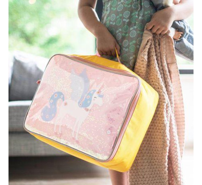 Suitcase Glitter - Unicorn-Storage Bag-A Little Lovely Company-jellyfishkids.com.cy