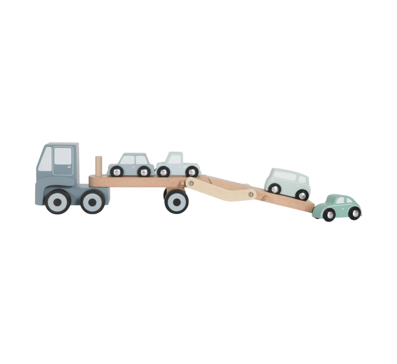 Wooden Transport Truck With Cars-Wooden Toys-Little Dutch-jellyfishkids.com.cy