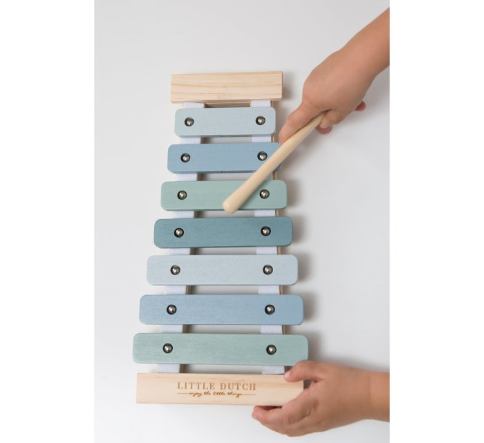Wooden Xylophone - Blue-Musical Instrument-Little Dutch-jellyfishkids.com.cy