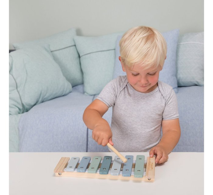 Wooden Xylophone - Blue-Musical Instrument-Little Dutch-jellyfishkids.com.cy