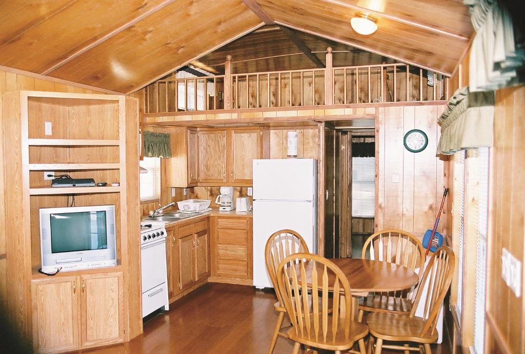 microwave kitchen cart white modern cabinets cabin rates | rentals & amenities jellystone fort ...