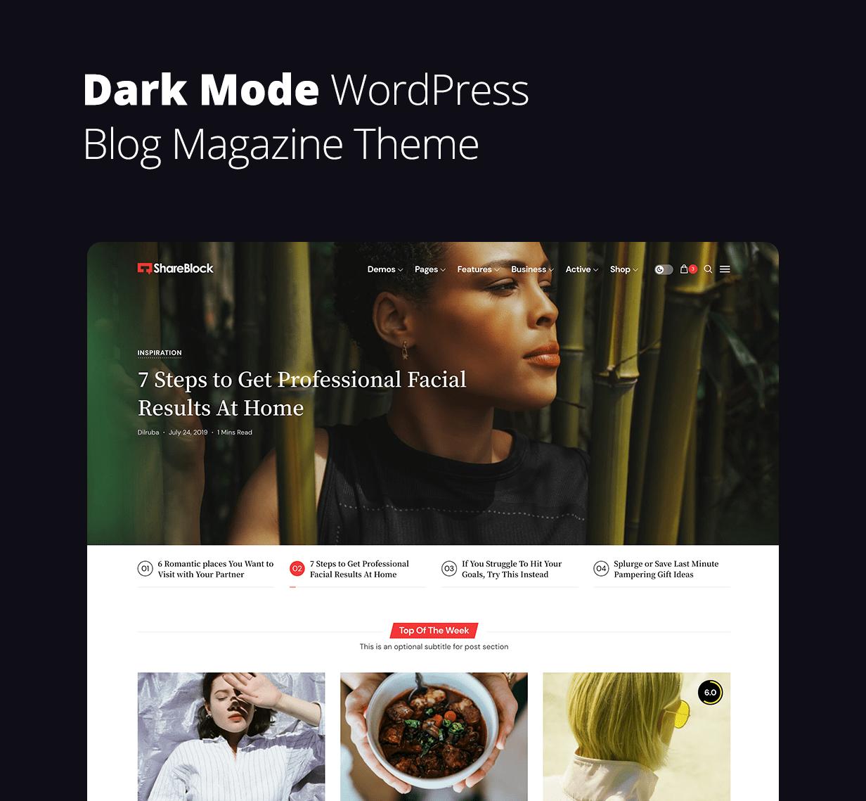 ShareBlock - Magazine & Blog WordPress Theme - 1