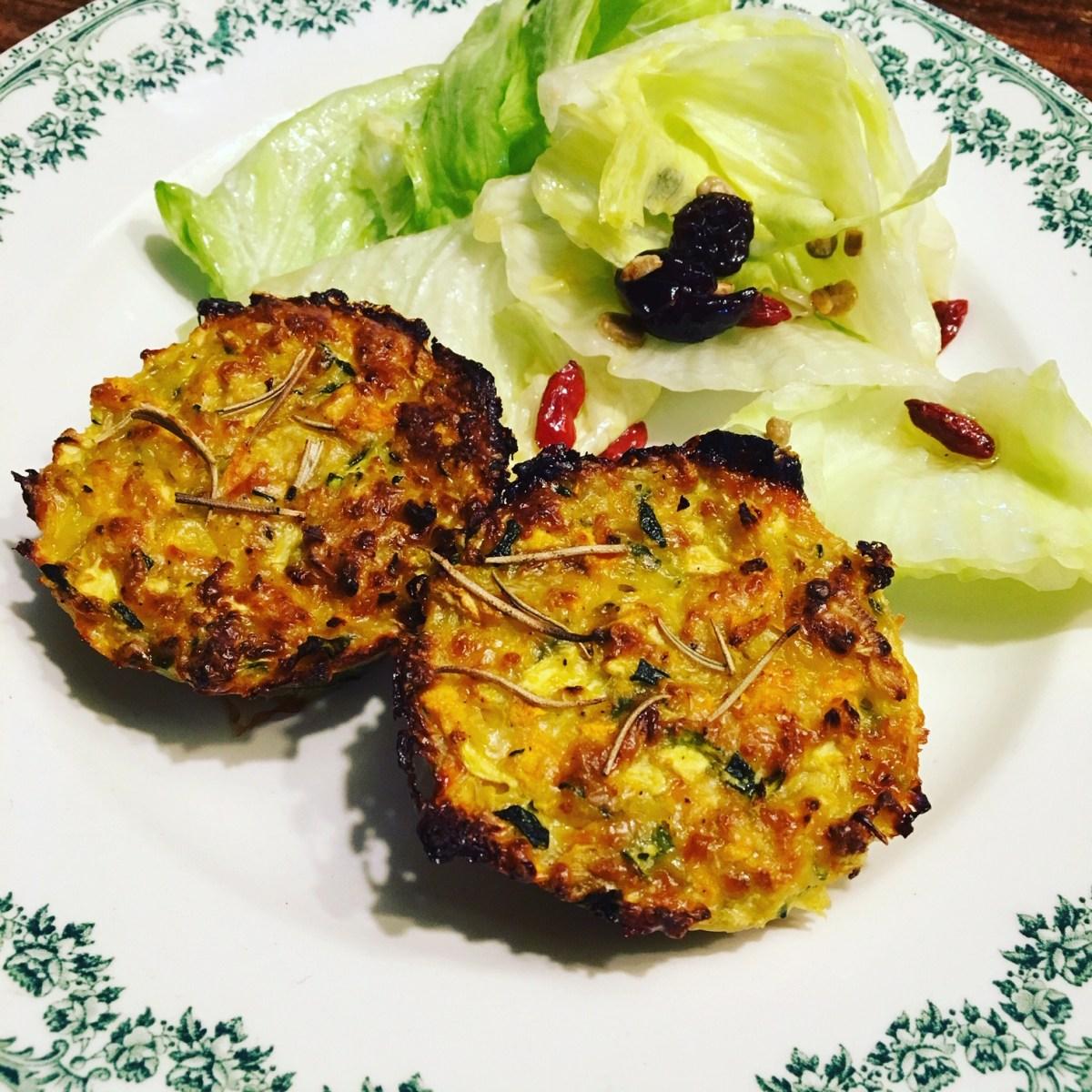 Galettes de légumes cuisson au four
