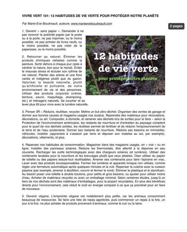 Vivre vert 101: 12 habitudes de vie verte pour protéger notre planète terre