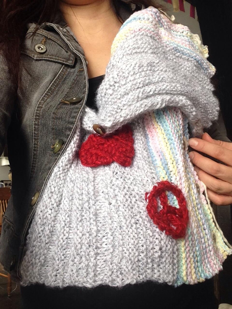 extension de manteau grossesse et portage tricot crochet idée cadeau bébè