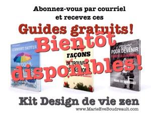 image Marie-Eve Boudreault auteure livres gides ebooks gratuits, kit design de vie zen