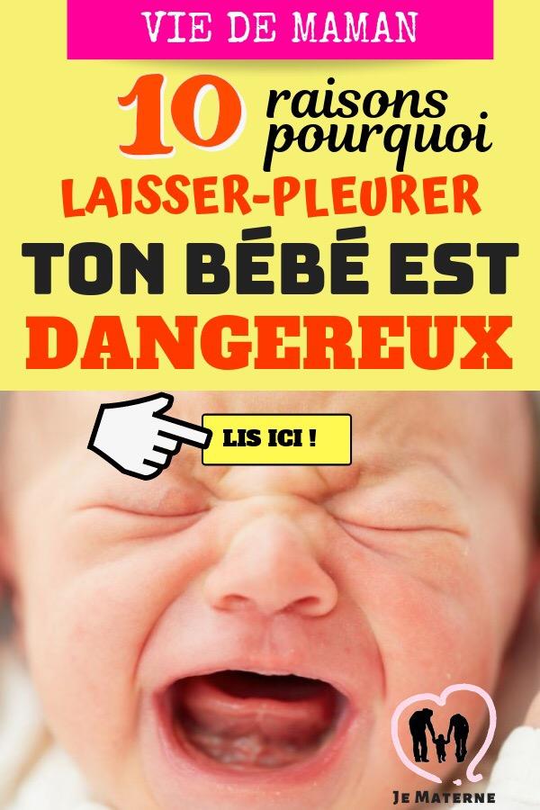 👉 À LIRE ABSOLUMENT! Ne laisse JAMAIS ton bébé pleurer, c'est NOCIF! Voici pourquoi en 10 faits méconnus expliqués… Clique pour lire sur http://jematerne.com/2018/06/22/ne-laisse-jamais-ton-bebe-pleurer-cest-nocif-voici-pourquoi-laisserpleurer-51015-entrainement-au-sommeil/ #maternité #maman #bébé #maternage #femmeenceinte #grossesse #conseils