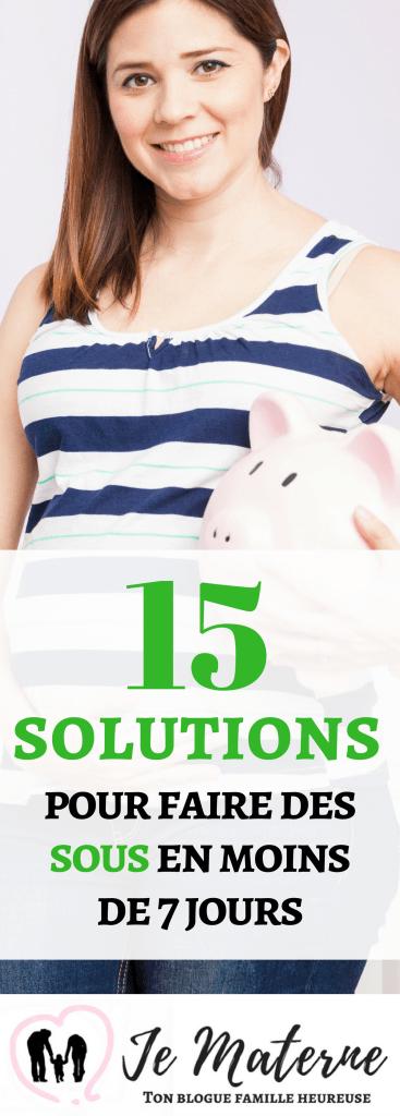 15 solutions pour faire des sous en moins de 7 jours
