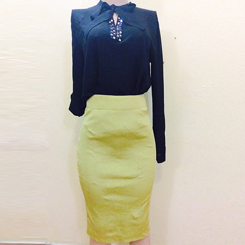 Lemon pencil fitted skirt SOLD OUT SOLD OUT