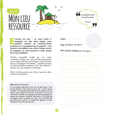 """Jour 14 du cahier d'exercices """"30 jours créatifs et magiques"""" de Sarah Chêne - Mon lieu ressource"""