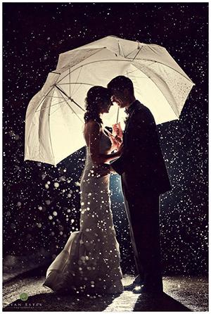 Mariage sous la pluie