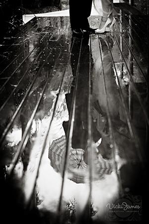 Photo mariage sous la pluis