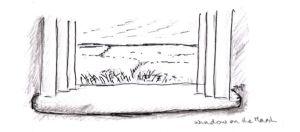 window overlooking the marsh
