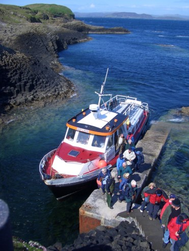 Arriving at Staffa