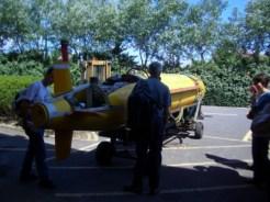 Antarctic submersible leaving