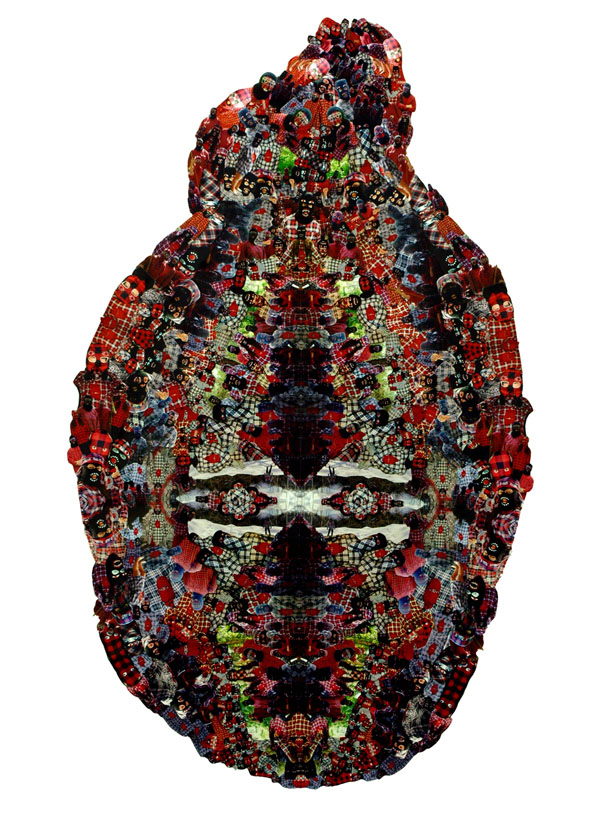 Aggregate Icon (Mask) collage 180 x 120cm