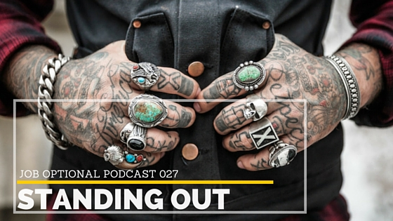 Job Optional Podcast with Jenae Nicole Duarte how to stand out from the crowd