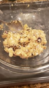 making the white chocolate chip cookies