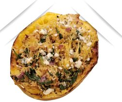 stuffed spaghetti squash with spinach and blue cheese