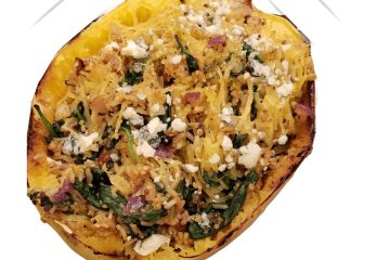 the best stuffed spaghetti squash that is healthy and delicious