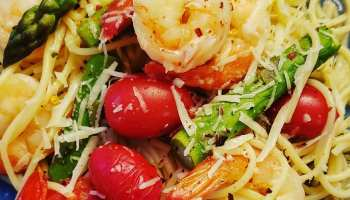 shrimp and asparagus scampi