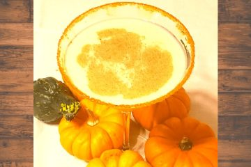 festive for fall and the best pumpkin pie martini recipe with pumpkin vodka, vanilla vodka, and baileys, irish cream