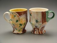 cups 2005, earthenware, decals