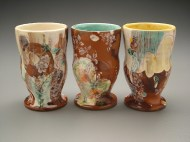 juice cups 2005, earthenware, decals