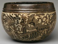 6th C Maya carved bowl
